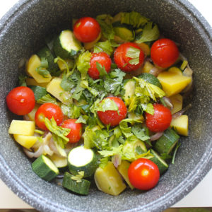 Pomodorini e erbe