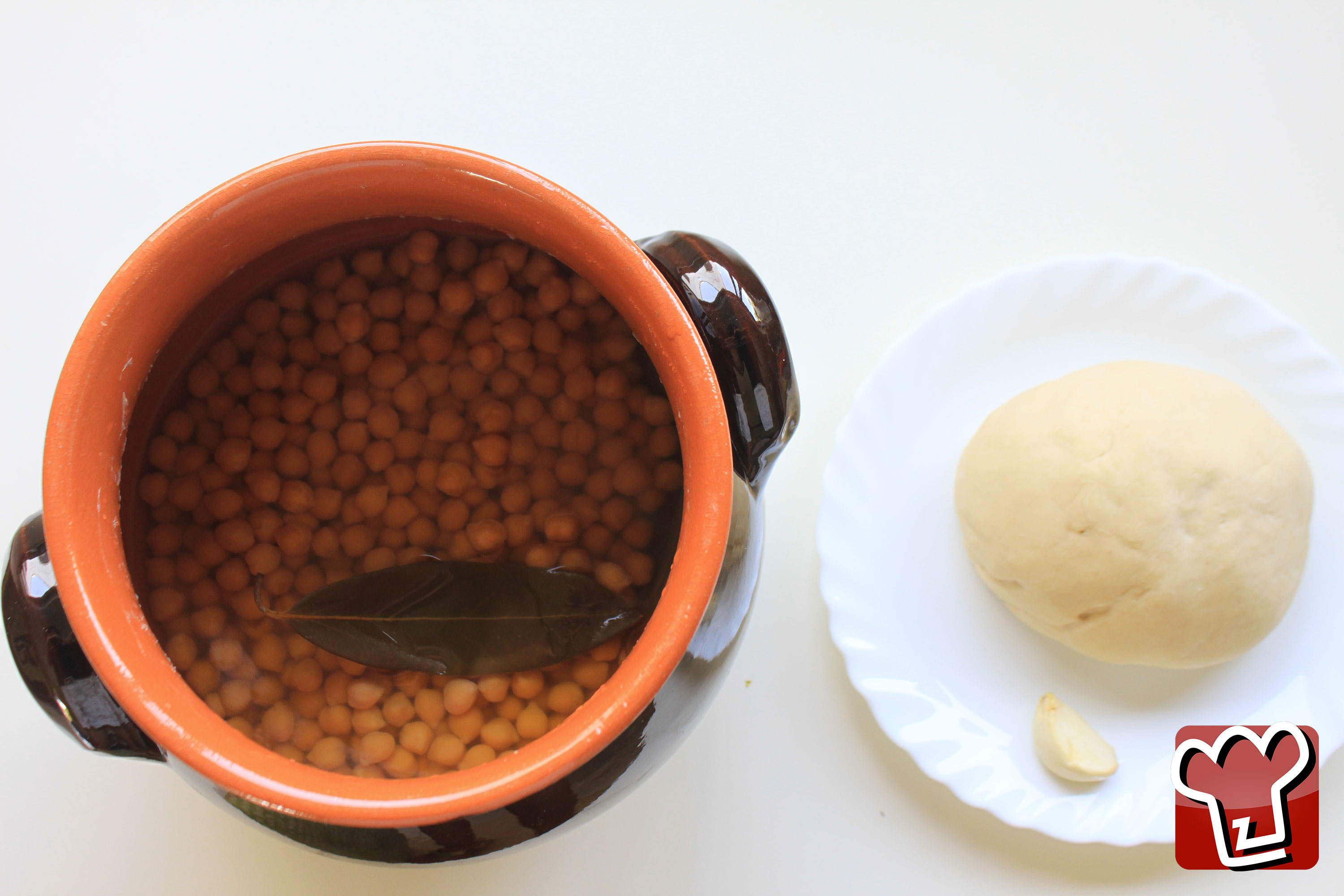 Chickpeas and dough